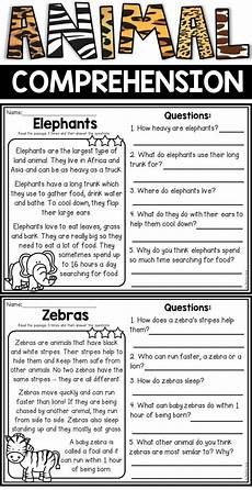 animal reading worksheets 14021 animal reading comprehension passages reading comprehension passages comprehension passage
