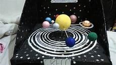 maqueta sistema solar giratoria 4 b 123vid