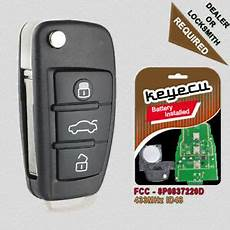 replacement remote key fob 315mhz id48 for audi a4 s4 2006
