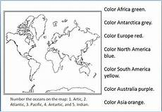 the geography blog geography worksheets continents and