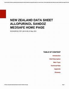 new zealand data sheet allopurinol sandoz medsafe home page by meghanbuffum4223 issuu
