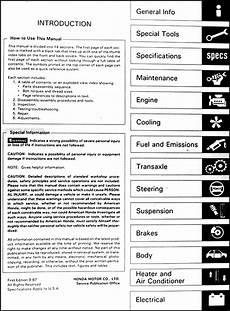 automotive service manuals 1988 honda accord auto manual 1988 honda accord repair shop manual original