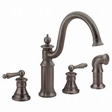 moen showhouse kitchen faucet moen showhouse s712orb waterhill two handle kitchen faucet with matching side spray rubbed