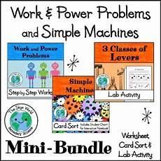 work power simple machines bundle worksheet