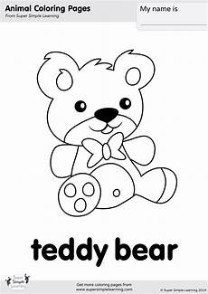 teddy coloring page simple