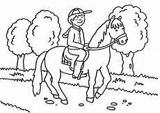 ausmalbild pferde kleiner reiter zum ausmalen kostenlos