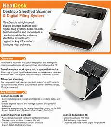 neat receipts and quickbooks neatdesk desktop sheetfed scanner digital filing system at tigerdirect com