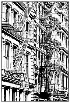 New York Malvorlagen Free Coloring Page Coloring Architecture Building In New