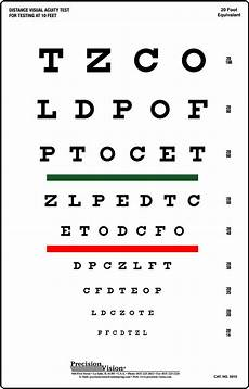 Snellen Eye Examination Chart Snellen Chart Red And Green Bar Visual Acuity Test