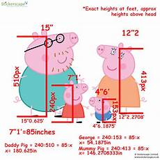 How Tall Is Peppa Pig I Calculated The Heights Of The Peppa Pig Family Members