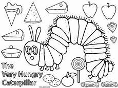 hungry caterpillar coloring pages raupe nimmersatt