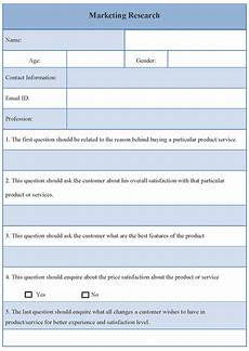 survey template for market research sle of market research survey template sle templates