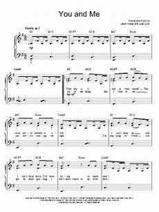you and me sheet music by lifehouse easy piano 67687