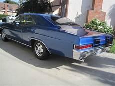 1966 chevrolet 2 door impala coupe in chevrolet quot metallic danube blue quot paint