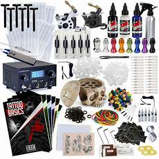 complete professional tattoo gun kit machine equipment