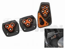 Gunmetal Orange Clutch Brake Gas Pedal For Integra Rsx