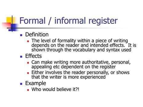 Define Formality