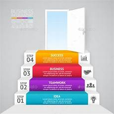 stairs and open door business startup infographic infographics template infographic