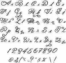 black font vintage letters stock vector