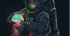 Spaceman Wallpaper 4k by Glowing Spaceman Wallpaper Engine Wallpaper