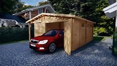 Holzgarage G Kombi Modell Garage Mit Carport