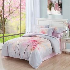 cherry blossom tree bedding queen king size bed sheets duvet cover pillowcase 100 brushed