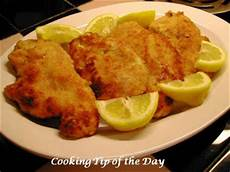 schnitzel day cooking tip of the day recipe schnitzel