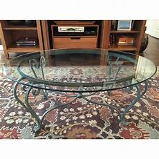 wrought iron coffee tables with glass top wrought iron coffee table with glass top chairish