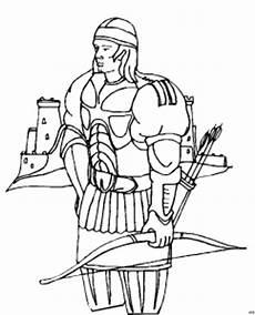 Ausmalbilder Indianer Mit Pfeil Und Bogen Ritter Mit Pfeil Und Bogen Ausmalbild Malvorlage Phantasie