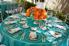 wedding color inspiration turquoise and orange lots of love