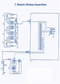 fiat x1 9 1986 electric window electrical circuit wiring diagram carfusebox