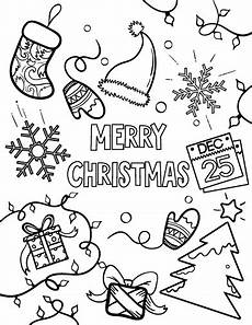 free merry coloring page