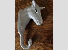 Unicorn Towel Hook Porcelain White Ceramic Wall Mount