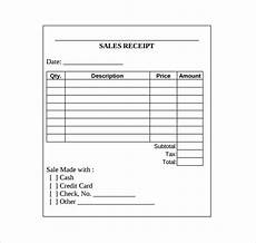 blank sales receipts templates sales receipt template 10 free documents in