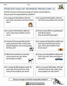 word problem worksheets year 1 11183 percentage word problems