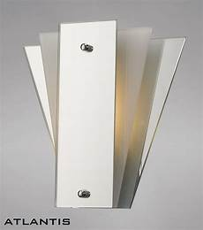 art deco wall light with white glass and mirror panels led art deco fan style 5056004200132 ebay