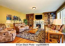 typisch amerikanisches wohnzimmer typical american living room design with fireplace and