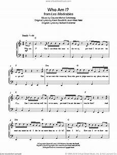 schonberg who am i from les miserables sheet music for piano solo