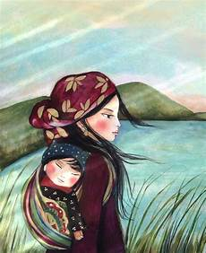 mother and child quot in the morning quot art print en 2019 peinture sur porcelaine enfant heureux