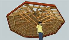 exploring octagonal roof framing with sketchup fine homebuilding