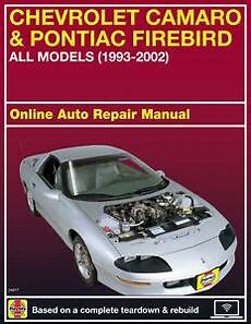 online auto repair manual 1997 chevrolet camaro regenerative braking 1997 chevrolet camaro haynes online repair manual select
