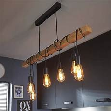 Suspension 6 Lumi 232 Res Bois Noir L100cm Townshend