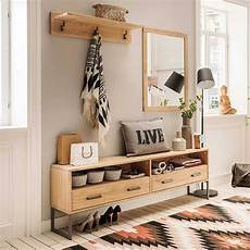 Flur Garderobe Spiegel Bank In Eiche Bianco Dulciana