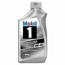 mobil 1 0w40 mobil 1 0w 40 synthetic motor 1 qt walmart