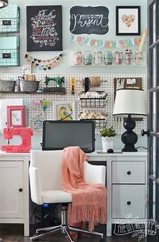 my colourful boho craft room office tour video the diy