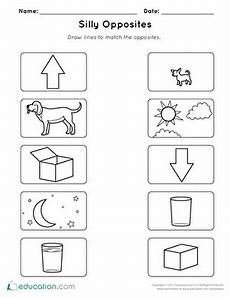 opposites match up worksheet education com