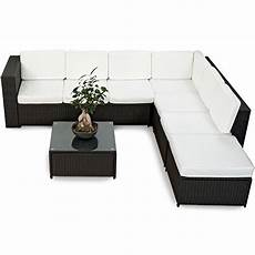 xinro 19tlg xxxl polyrattan gartenm 246 bel lounge sofa