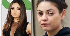 Mila Kunis Without Make Up And Looks A Bit On