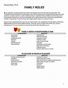 13 best images of family roles worksheets dysfunctional family roles chart dysfunctional