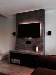 tv wand schiefer customer diy project splitface tile tv stand walls and